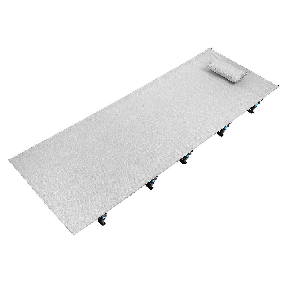 ポータブルOffice Sleepingマット折りたたみベッドロールキャンプのアウトドア活動 B07417ZCTX グレー グレー