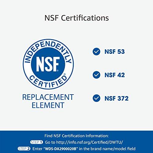 Waterdrop NSF 53&42 Certified DA29-00020B Replacement Refrigerator Water Filter, Compatible with Samsung DA29-00020B, DA29-00020A, HAF-CIN/EXP, 46-9101, Advanced, 2 Pack by Waterdrop (Image #2)