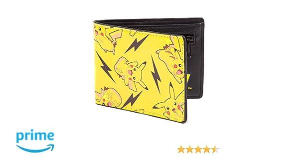 Bioworld POKEMON All-over Pikachu Bi-Fold Wallet Monedero, 12 cm, Amarillo (Yellow)