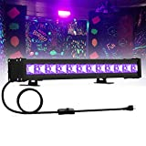 24W UV Black Light, 12LED Black Light Bar, Glow in The Dark Party Supplies for Disco Stage Lighting, Halloween, Body Paint, Fluorescent Poster, Birthday Wedding Party