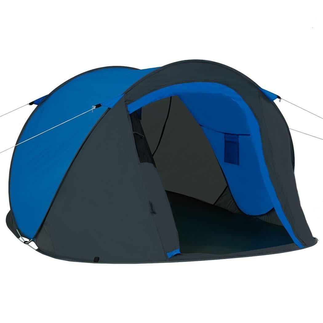 Duhome Pop Up Strandzelt Polyester Dunkel Blau und Sichtschutz Farbauswahl PT-001 Hell Blau blitzschneller Aufbau Zelt Wurfzelt Wetter