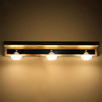 Badewanne Spiegel Lampen - Holz- LED-Lampen minimalistischen ...