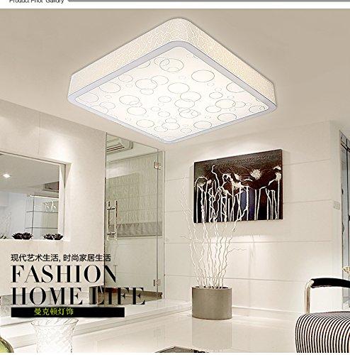 Rechteckige Led Lampe Modern Minimalistischen Wohnzimmer Esszimmer  Schlafzimmer Romantische Mode Kreativ Fernbedienung Dimmer Palette,Kleines  Quadrat Led18W ...