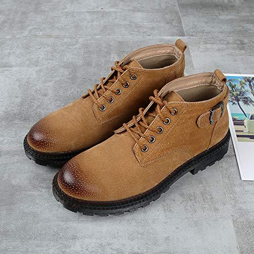 LOVDRAM Stiefel Männer Martin Stiefel Stiefel Stiefel Männer In Der Tooling High-Top Schuhe Retro Pu Freizeitschuhe Wilden Winterstiefel f028f2