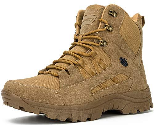 Ansbowey Bottes Hommes Chaussures de Randonnée Femmes Tactiques Militaire Combat Boots Exterieur antidérapantes Bottines… 1