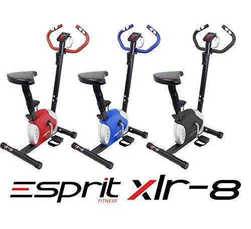 Esprit Fitness XLR-8 Exercise Bike Adjustable Resistance Cardio Workout Indoor Fitness Bike