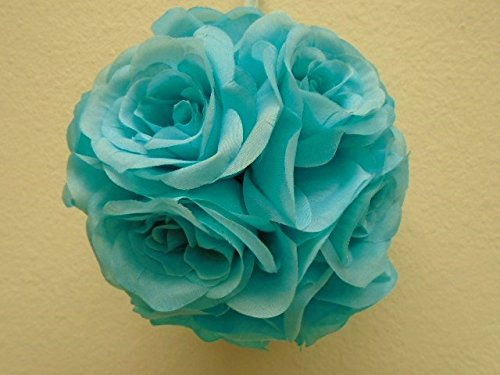 2-Kissing-Balls-Rose-6-Artificial-Silk-Flowers-GB329