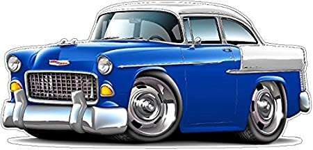 Amazon Com 1955 Chevy Belair Wall Decal 2ft Long Car Sport Classic Vintage Graphic Sticker Photo Man Cave Garage Boys Bedroom Decor Arts Crafts Sewing