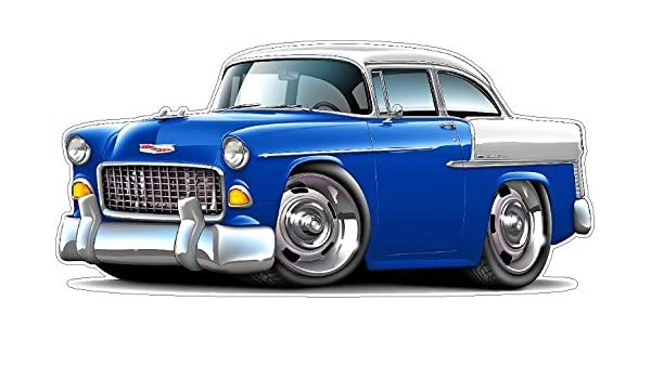 Amazon com: 1955 Chevy Belair WALL DECAL 2ft long Chevrolet