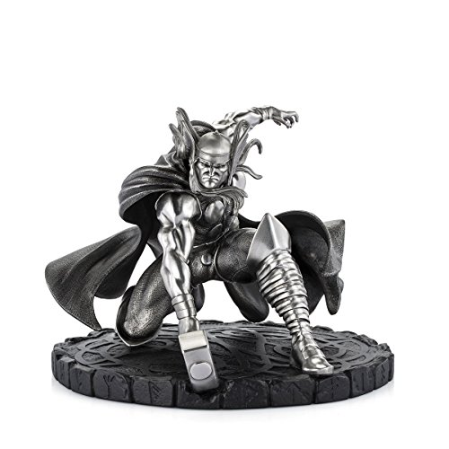 Royal Selangor Hand Finished Marvel Collection Pewter Limited Edition Thor God of Thunder Figurine ()