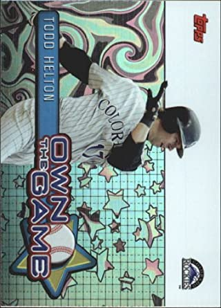 Amazon.com: 2005 Topps Own the Game Baseball Card #2 Todd Helton Mint: Collectibles & Fine Art