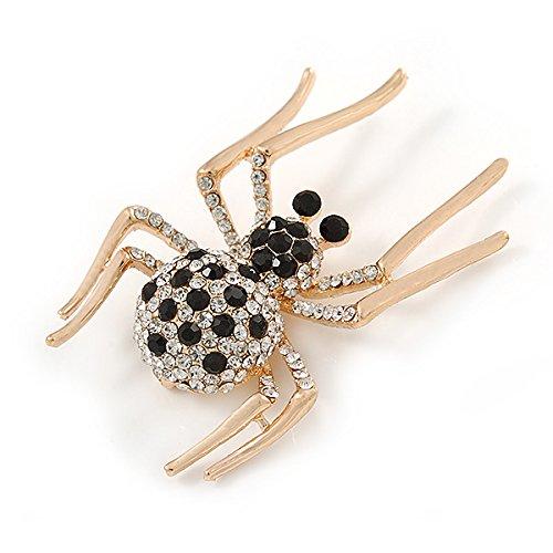 b3bb304c858c Envio gratis Negro Transparente araña de cristal broche – 55 mm L ...