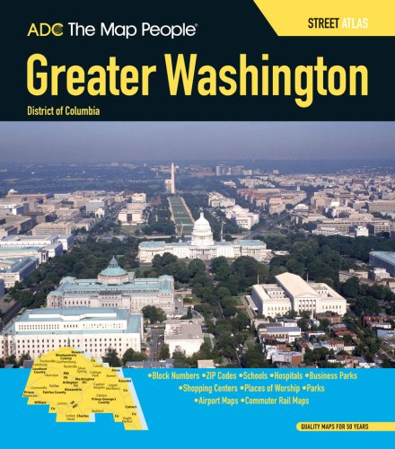 Adc greater washington dc street atlas the map people adc adc greater washington dc street atlas the map people adc 9780875308708 amazon books gumiabroncs Choice Image