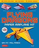 img - for Flying Dragons Paper Airplane Kit: 48 paper airplanes, 64 page book, 12 original designs, YouTube video Tutorials book / textbook / text book
