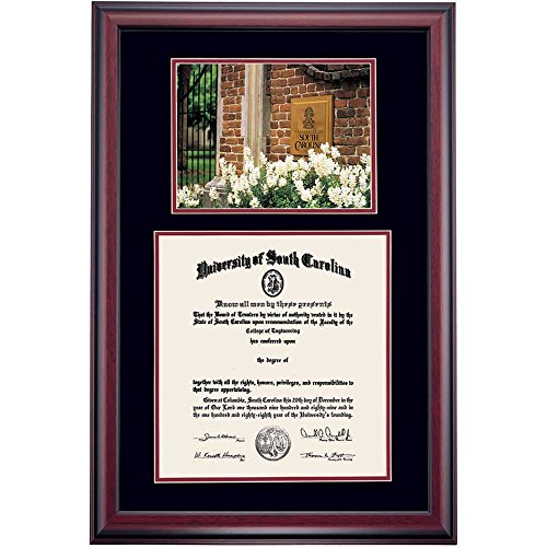 South Carolina Gamecocks Diploma Frame Black Maroon Matting Photograph