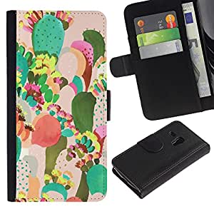 KingStore / Leather Etui en cuir / Samsung Galaxy S3 MINI 8190 / Pintura colorida Art México;