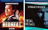 TOTAL RECALL - RED HEAT - BLUE RAY DOUBLE ACTION PACK