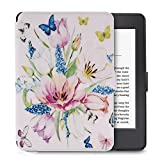 Case for Kindle Paperwhite, Newshine Slim Fit Flip PU Leather Cover Build in Magnetic [Auto Sleep/Wake] for 6 inch All-New Amazon Kindle Paperwhite 1/2/3 - Spring Flower
