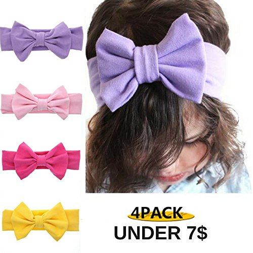 Baby Headbands Turban Knotted, Girl's Hairbands for Newborn Childrens (Pack of - Mall Spring Coral