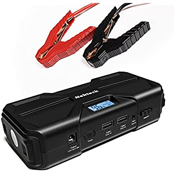 Nekteck Multifunction Car Jump Starter Portable External Battery Charger 600A Peak With 16800mAh High Capacity - Emergency Power Bank Auto Heavy Duty Jumper For Sedan Truck, Van, SUV, Laptop and More
