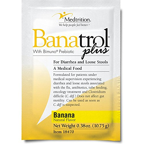Banatrol Plus Banana Flavor: A natural solution to stopping diarrhea and loose stools without side effects. (75 pack) (Stool Banana)