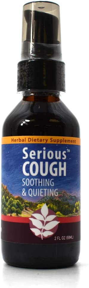 WishGarden Herbs - Serious Cough, Organic Herbal Cough Suppressant Supplement, Soothes and Calms Common Throat and bronchial Irritation (2 oz)