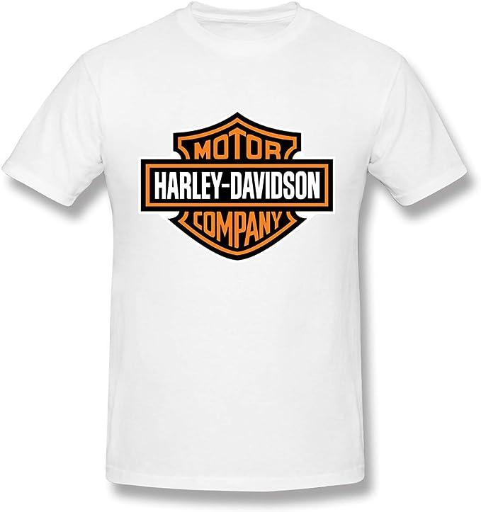 Camisetas clásicas de diseño de Logotipo Harley Davidson para Hombre: Amazon.es: Ropa y accesorios