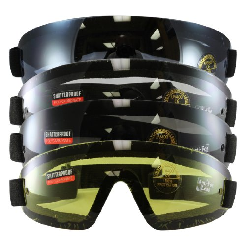 Birdz Eyewear Wing Series Goggles (Clear, Blue, Yellow, Smoke Lens) - Set of 4 - High Sky Wing