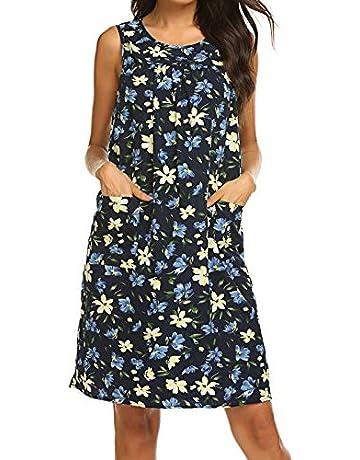 fb8892baea POGT Dress for Hot Summer Days Sleeveless House Dress Plus size (XXL, 1)