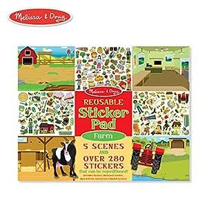 Melissa & Doug Reusable Sticker Activity Pad - Farm Toy