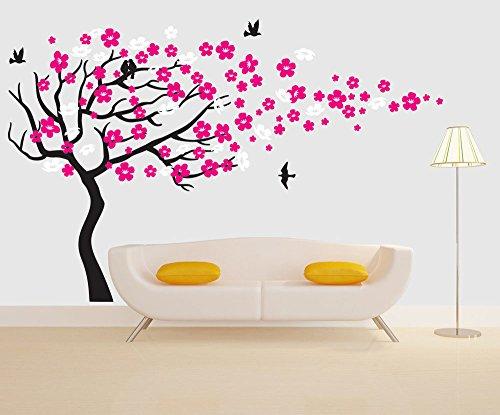 vinyl-tree-wall-decal-nursery-cherry-blossom-flower-tree-mural-art-wall-sticker-baby-kids-wall-decor