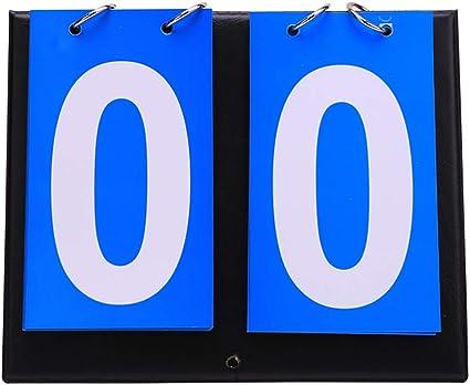 Demeras Sport Segnapunti Portatile 2//3//4 cifre Impermeabile da Tavolo Flip Segnapunti Segnapunti per Ping-Pong Pallacanestro