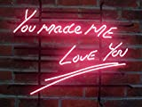Desung Brand New 20''x16'' You Made Me Love You Red Color Neon Sign (Various sizes) Beer Bar Pub Man Cave Business Glass Neon Lamp Light DB151