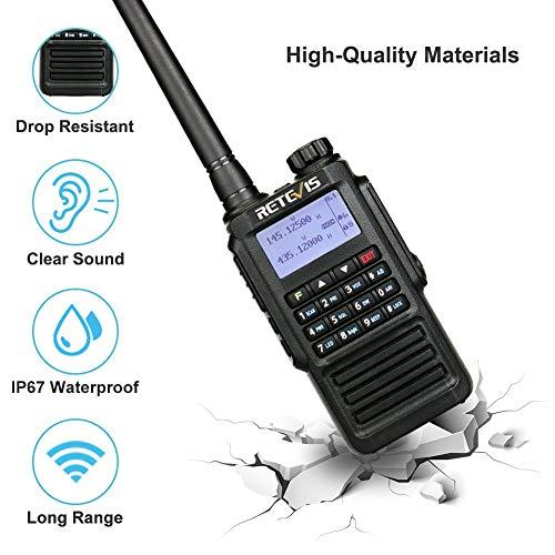 Retevis RT87 Waterproof Walkie Talkie Long Range VHF UHF