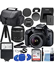 Canon EOS 4000D w/ 18-55mm F/3.5-5.6 III Lens + SanDisk 32GB SD Card + Flash + More