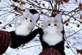 QLY Animal Mittens Hand Knitted Pet Handmade Plush