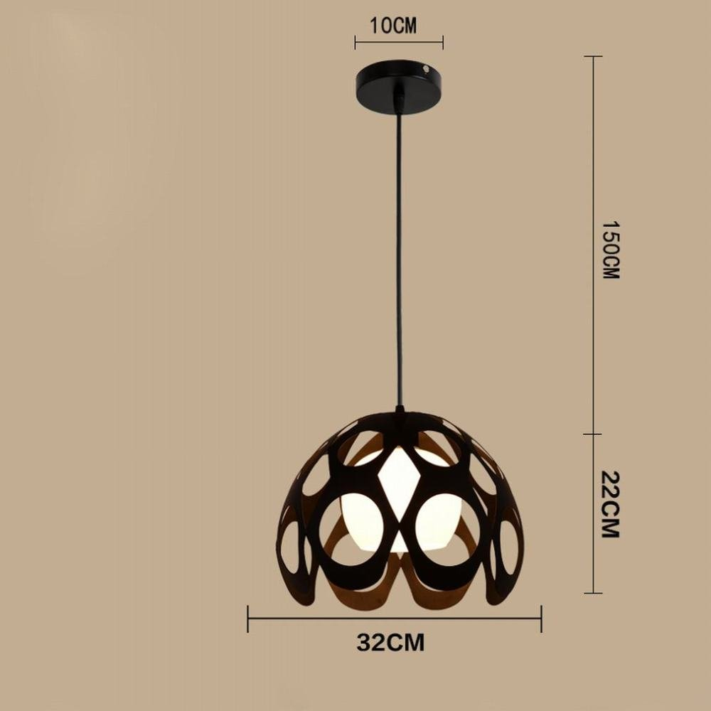 DEN Restaurant chandelier three creative personality industrial bar table bedroom restaurant lights simple modern Nordic dining lamps,F,One size