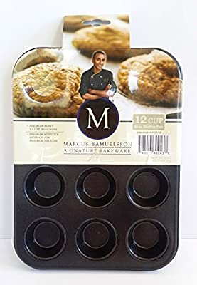 Celebrity Chef Marcus Samuelsson Signature Bakeware 12 Cup Mini Muffin Pan Baking Mold