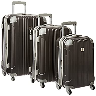 Traveler's Choice Beverly Hills Country Club Newport 3-Piece Hardside Spinner Set, Grey