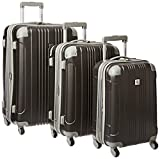 Beverly Hills Country Club Newport 3-Piece Hardside Spinner Luggage Set - Gray ( 21-Inch , 24-Inch and 28-Inch )