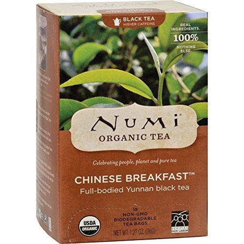 Numi Chinese Breakfast Yunnan Black Tea - 18 Tea Bags - Case Of - Chinese Tea Numi Breakfast