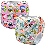 Image: Storeofbaby Reusable Baby Swim Diapers   Waterproof 100% polyester PUL outer layer   designed for holding solids   100% nylon mesh inner for easy clean up
