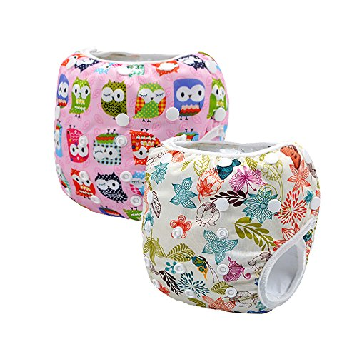 Storeofbaby 2pcs Baby Swim Diapers Pants Leakproof Reusable Adjustable (Pack of 2)