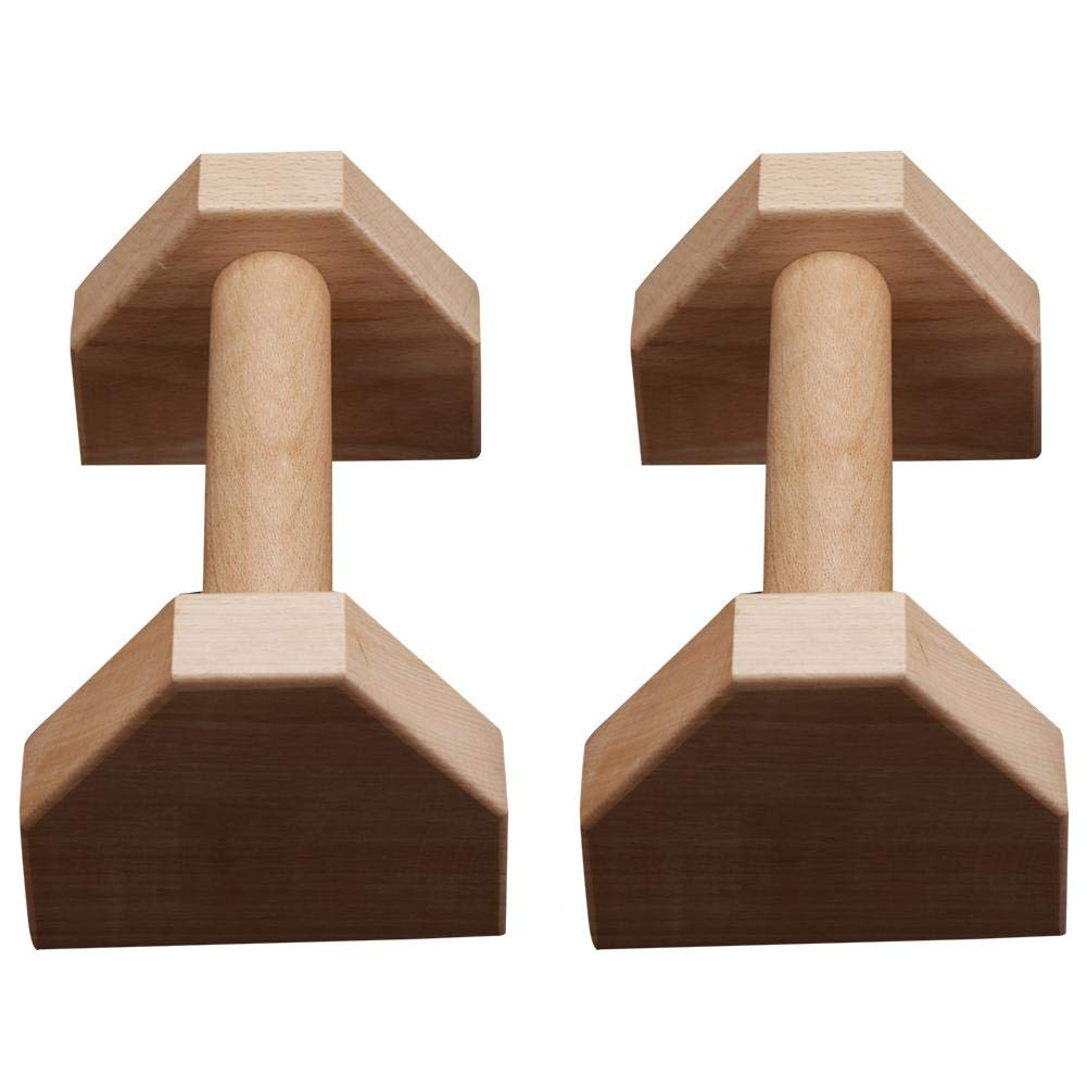 Pushup Stands Personalised Bars Parallettes Stretch Stand Wooden Push Up Handstand Bars Calisthenics Handstand Single Double Handles Headstand Shelf Push-Ups Rod 1 Pair