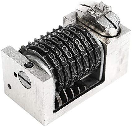 Numbering Machine 7 Digit Backward Flat Press Lead Printing Windmill Letterpress