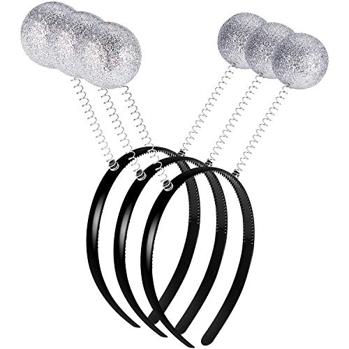 3 Pieces Martian Alien Headband Funny Ball Head Boppers for Party Supplies and Costume Accessory -