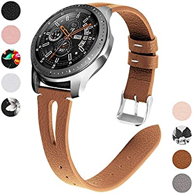 Yayuu 22mm Cuero Correa de Reloj Samsung Galaxy Watch 46mm ...