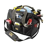 CLC Custom Leathercraft L230 14-Inch 29 Pocket Tech Gear Lighted Big Mouth Tool Bag