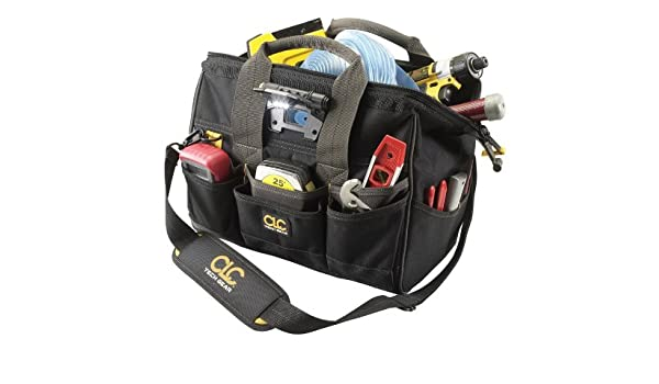 a6ea348ad89 Custom Leathercraft L230 14-Inch 29 Pocket Tech Gear Lighted Big Mouth Tool  Bag: Amazon.ca: Tools & Home Improvement