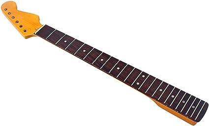 SUPVOX - Mango para guitarra, 22 teclas de repuesto, teclado de puntos blancos, diseño de guitarra, accesorio para guitarra eléctrica St Strat (amarillo): Amazon.es: Instrumentos musicales